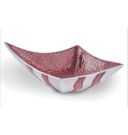 Metal Square Point Hennesey Bowl-Crimson