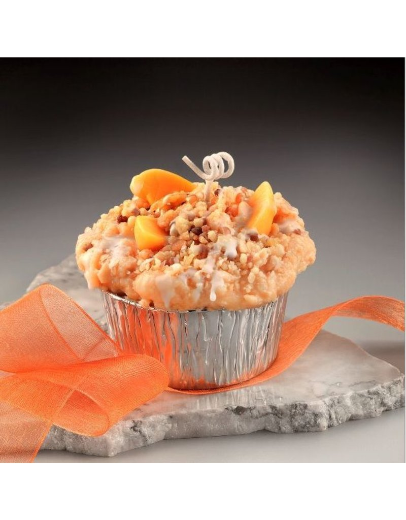 Honey Hive Handmade Peach Cobbler Muffin CANDLE<br />Looks & Smells Great!