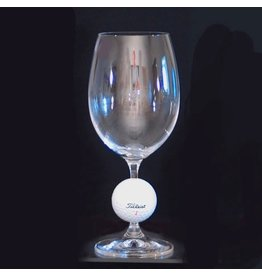 Wine Glass with Golf Ball