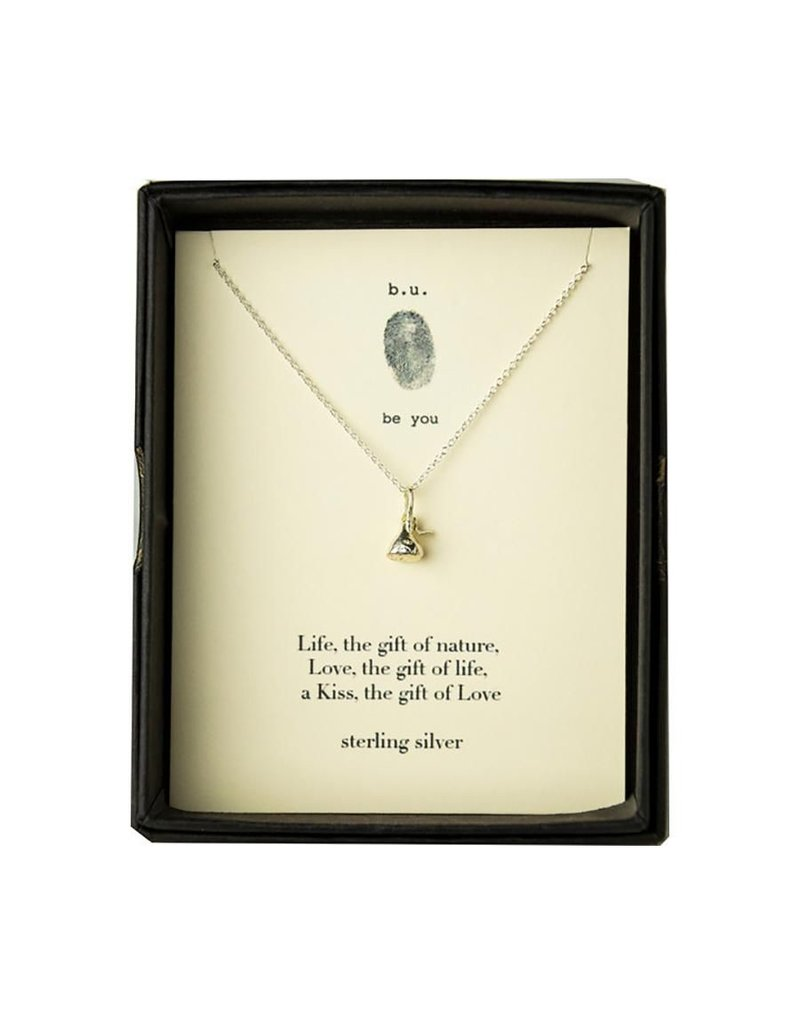 "BU Jewelry BU-Inspirational Necklace-""KISS"""
