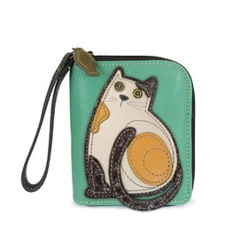 Chala Bags Wallet-Zip Around-LaZzy Cat