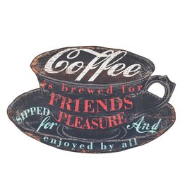 "Wall Decor-Sign ""Coffee is Brewed"" 36""x23"""