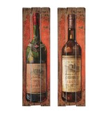 "Wall Decor-Vintage Wine Bottle 17""x60"""