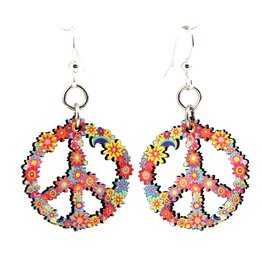 Green Tree Earrings Wood-Blossom Peace
