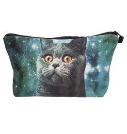 Sihnderella Make Up Bag-Digital Blue Cat