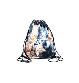 Sihnderella Drawstring Bag-Basket Cats
