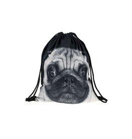 Drawstring Bag-Pug Dog