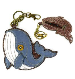 Chala Bags Key Fob, Coin Purse-Whale