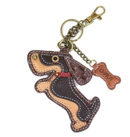 Chala Bags Key Fob, Coin Purse-Wiener Dog