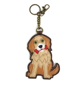 Chala Bags Key Fob, Coin Purse-Golden Retriever