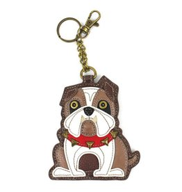 Chala Bags Key Fob, Coin Purse-Bulldog