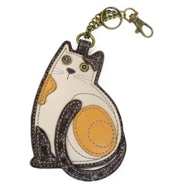 Chala Bags Key Fob, Coin Purse-Lazzy Cat