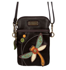 Chala Bags Crossbody-Cell Phone Bag-Dragonfly (Black)