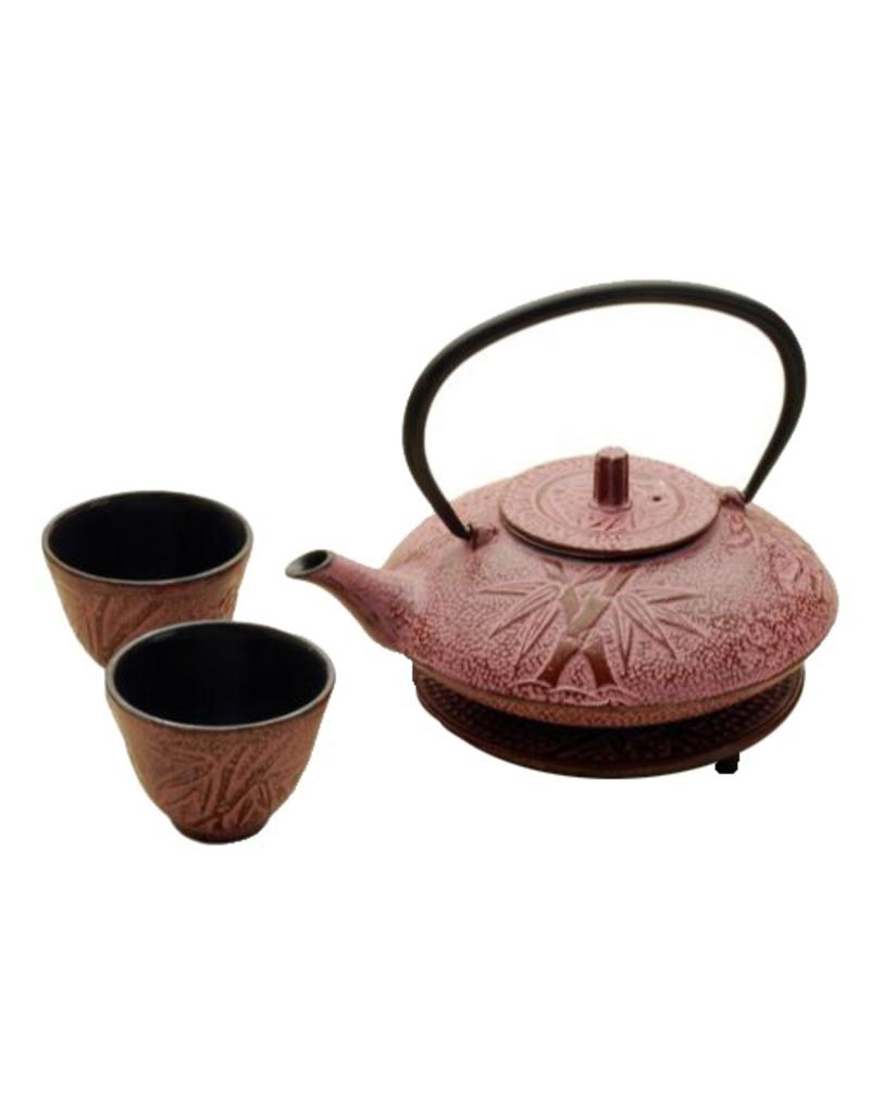 Tea Set-Cast Iron 'PINK' (4pc)