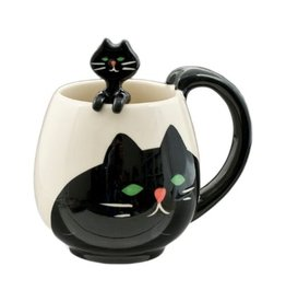 Mug & Spoon-Black Cat