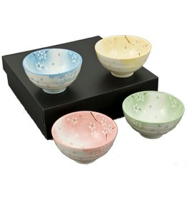 Rice Bowls (4pc Set)-Pastel Blossoms
