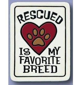 Spooner Creek Ceramic Magnet - 'Rescued Breed'