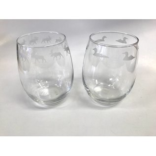 Glass Graphics Etched Wine Glasses