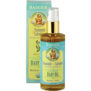 W.S. Badger Baby Oil - Chamomile & Calendula Calming - 4 oz