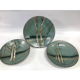 Muddy Girls Studio Birch Tree Pottery Plate