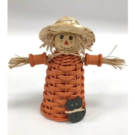 Diane Perry-Mann Woven Scarecrow with Cat Decoration
