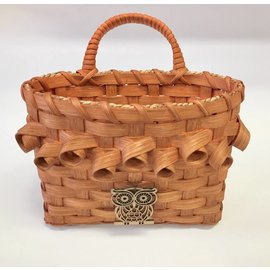 Diane Perry-Mann Woven Basket with Owl