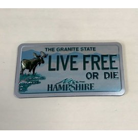 Eastern Illustrating New Hampshire License Plate - Foil