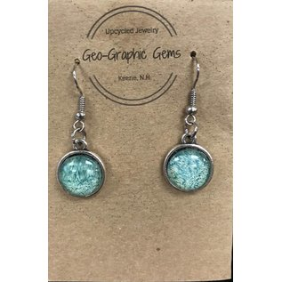 Geo Graphic Gems National Geographic Upcycled Drop Earrings