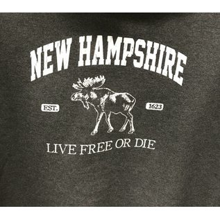 Glass Graphics New Hampshire Moose Live Free or Die Hoodie
