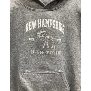 Glass Graphics Youth New Hampshire Moose Sweatshirt
