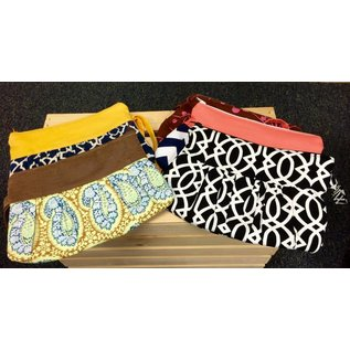 Bags By Melanie Fabric Pleated Wristlets