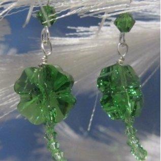 Beadwitching Jewelry Shamrock Earrings