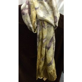 Birds on The Wing Eco Dyed Silk Scarf