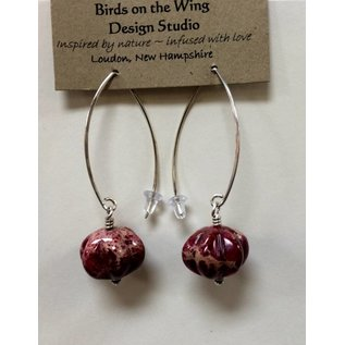 Birds on The Wing Impression Jasper Gemstone Earrings