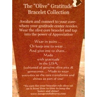 Grateful Designs Olive Gratitude Bracelet