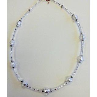 Joan Major Designs Silver Round Bead Necklace