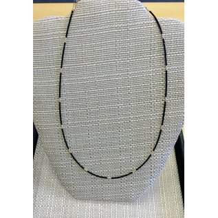 "Joan Major Designs 18"" Black/Gold Seed Bead Necklace"