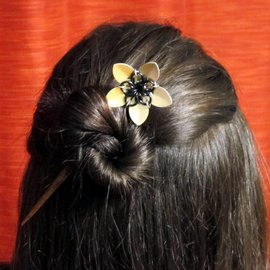 Knitting Metal Metal Flower Hair Sticks