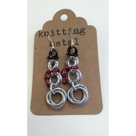 Knitting Metal Snowman Knitting Metal Earrings