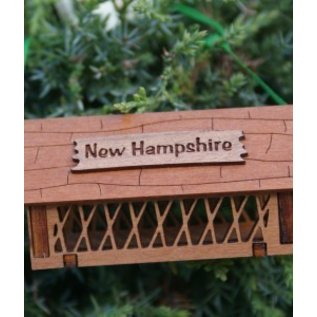 Laserkrafts 3D Wooden Ornaments - NHCovered Bridge