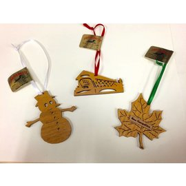 Laserkrafts New Hampshire Laser Cut Flat Wooden Ornaments