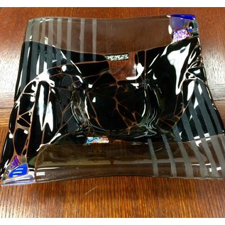 Marissa Vitolo Black Square Glass Bowl