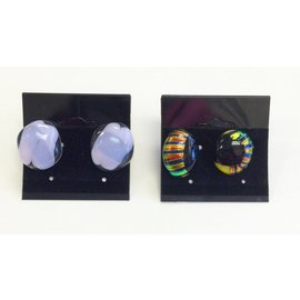 Marissa Vitolo Fused Glass Stud Earrings
