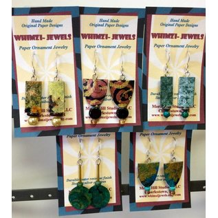 Morse Hill Studios Paper and Beads Earrings