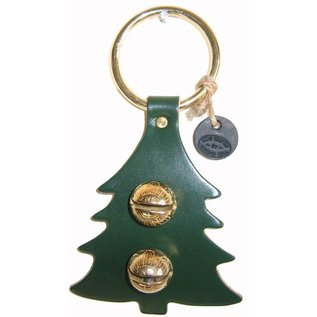 New England Bells Leather Christmas Tree with Two Bells
