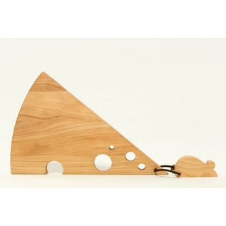 NH Bowl & Board Wood Swiss Cheese Board