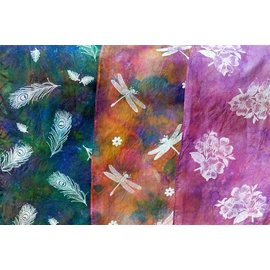 Petals In The Pines Silk Scarves