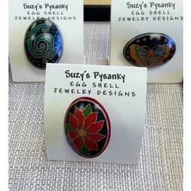 Suzy's Pysanky Jewelry Pysanky Egg Shell Brooch