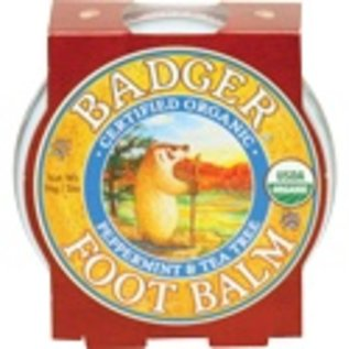 W.S. Badger Foot Balm - Peppermint & Tea Tree - 2 oz