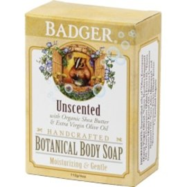 W.S. Badger Botanical Body Soap - Unscented - 4oz